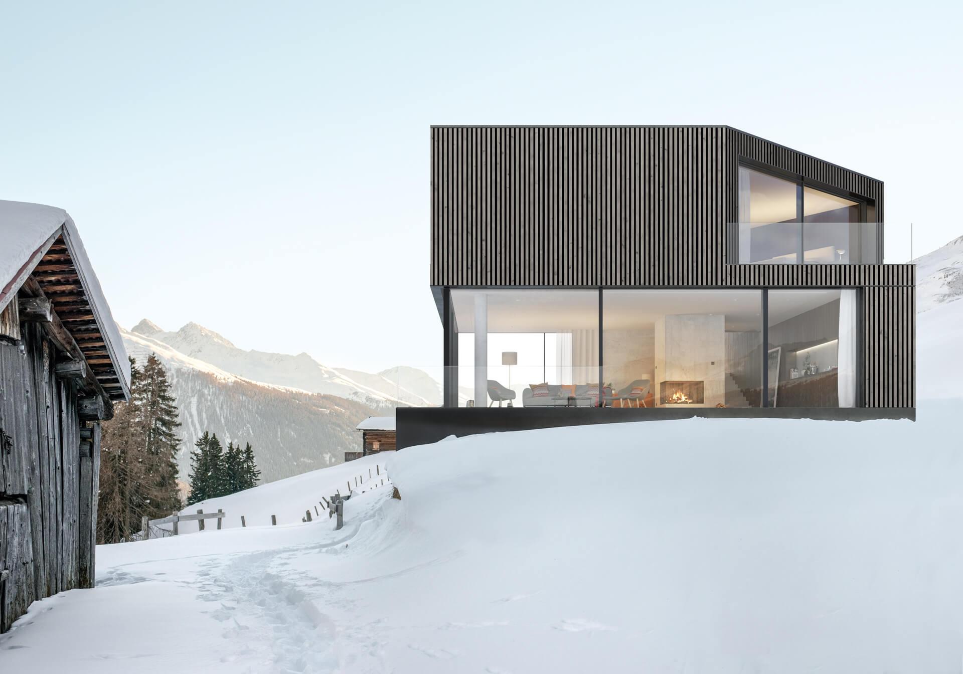 Dom w górach w stylu nowoczesnym