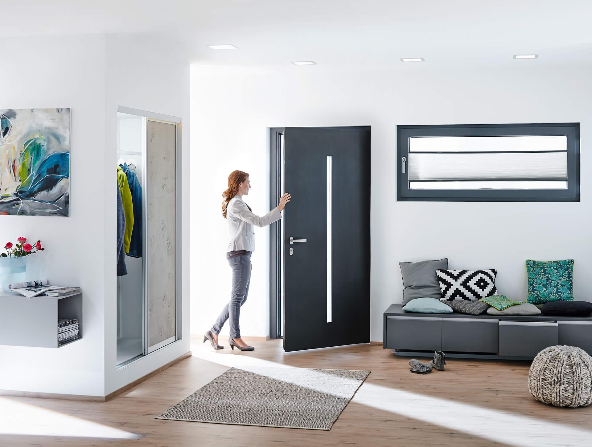 Drzwi do mieszkanie z aluminium