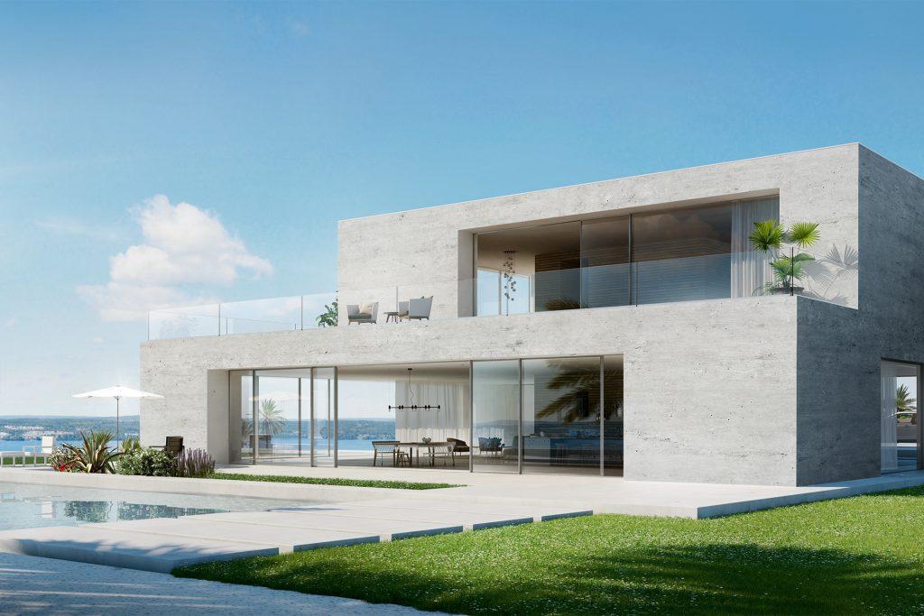 Duże ilość okien w domu o nietypowych kształtach